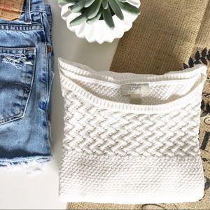 Loft Creamy Cotton Sweater